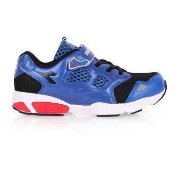 【DIADORA】男女大童流行跑鞋-慢跑 路跑 寬楦 藍黑紅
