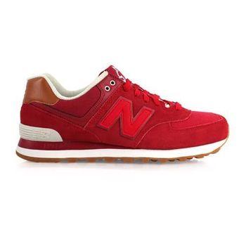 【NEWBALANCE】574 男復古休閒鞋 - NB N字鞋 紅咖啡