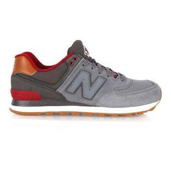 【NEWBALANCE】574系列 男復古休閒鞋 - NB N字鞋 灰酒紅
