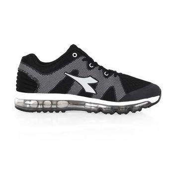 【DIADORA】女氣墊慢跑鞋-路跑 寬楦 黑白