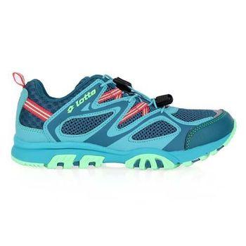【LOTTO】女功能水陸車鞋III-越野 氣墊 慢跑 路跑 湖水藍淺綠