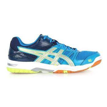【ASICS】GEL-ROCKET 7 男排球鞋-羽球鞋 亞瑟士 藍螢光綠銀
