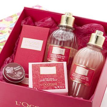【禮物卡】LOCCITANE 歐舒丹 玫瑰皇后經典香氛禮盒五件組