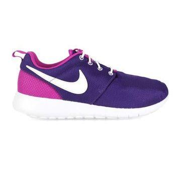 【NIKE】ROSHE ONE 女大童運動鞋 - 路跑 慢跑 紫白