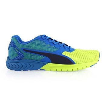 【PUMA】IGNITE DUAL 男慢跑鞋- 路跑 訓練 藍芥末綠