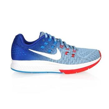 【NIKE】AIR ZOOM STRUCTURE 19 女慢跑鞋- 路跑 水藍橘
