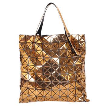 ISSEY MIYAKE BAOBAO幾何方格10x10手提包(金屬金)亮面