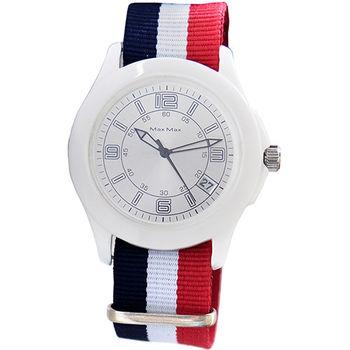 【MAX MAX】法國巴黎時尚簡約帆布質感男錶(MA4023-4)