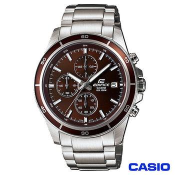 CASIO卡西歐 EDIFICE系列三眼計時功能腕錶 EFR-526D-5A