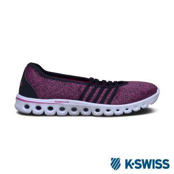K-Swiss X Lite MJ CMF輕量訓練鞋-女-黑/莓紅