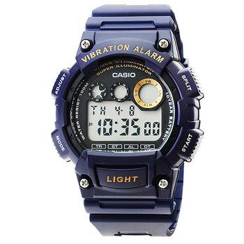 CASIO 卡西歐軍用野戰電子錶-深藍 / W-735H-2A