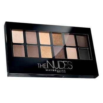 MAYBELLINE 媚比琳 時尚伸展台訂製12色眼彩盤 Nude 1時尚小舞台 9.6g