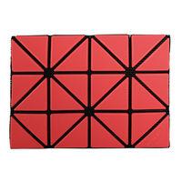 ISSEY MIYAKE BAOBAO幾何方格3x4名片 ^#47 卡夾 ^#40 橘色
