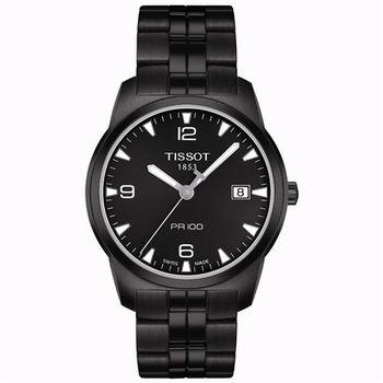 TISSOT PR100 瑞士時尚腕錶-IP黑/38mm T0494103305700