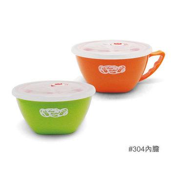 【安妮兔】304內膽炫彩寶寶碗2入-15CM(買一送一) 062UP-A56