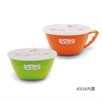 【安妮兔】304內膽炫彩寶寶碗2入-15CM 062UP-A56