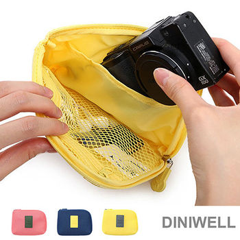 【任選】DINIWELL多功能防震數碼配件包(黃色/S)