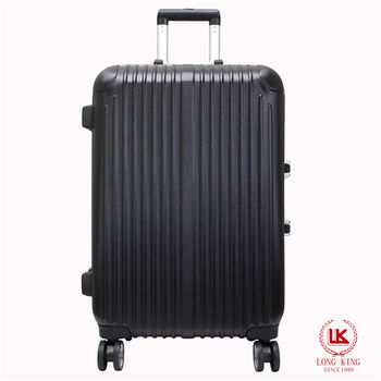 【LONG KING】24吋ABS鋁合金框行李箱LK-8016/24-黑