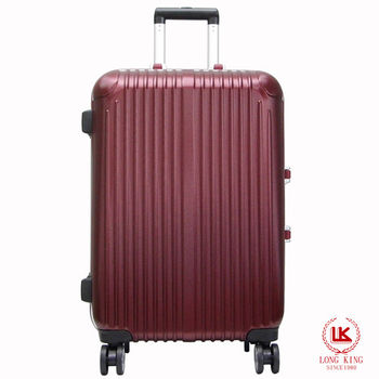 【LONG KING】28吋ABS鋁合金框行李箱LK-8016/28-棗紅