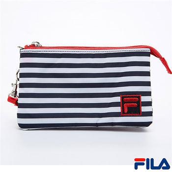 FILA多功能條紋手拿包(質感黑)PWQ-5501-BK