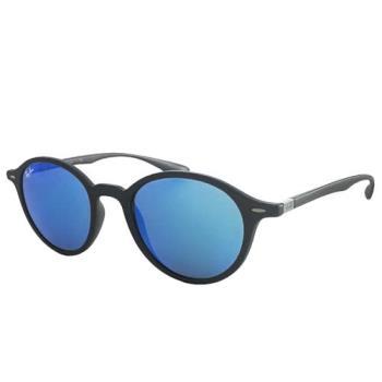 【Ray Ban 雷朋】4237F-6206/17_復古圓框雷朋太陽眼鏡(水銀藍玻璃鏡片)