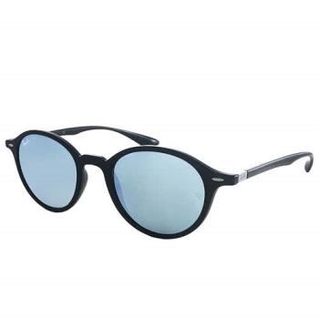 【Ray Ban 雷朋】4237F-601/30_復古圓框雷朋太陽眼鏡(水銀玻璃鏡片)