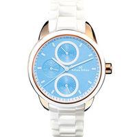 ~Max Max~粉嫩馬卡龍 陶瓷腕錶 ^#45 白金x粉藍 ^#40 MAS7003S