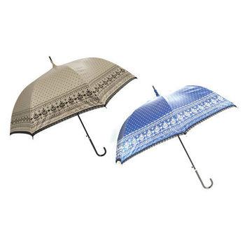 淑女風雙面印蕾絲遮光玻璃纖維宮廷傘(買一送一) 157Y-0925