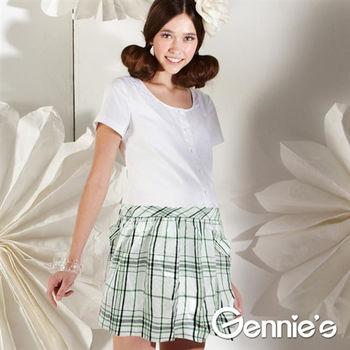 【Gennie's奇妮】學院風襯衫式春夏孕婦洋裝(G1115)