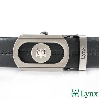 【Lynx】自動扣紳士皮帶-黑 (LY11-878-99)