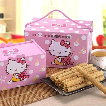 《Hello Kitty》芝麻蛋捲-甜蜜禮盒(兩盒)