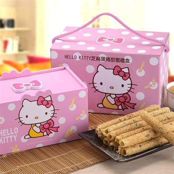 Hello Kitty芝麻蛋捲禮盒(甜蜜版)(2盒)