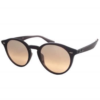 【Ray Ban 雷朋】2180F-62313D-NEW!復古圓框太陽眼鏡(薄水銀粉鏡面-深褐框)