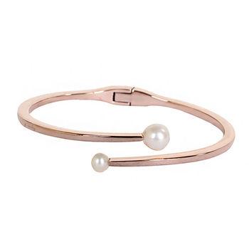 agnes b. 珍珠造型手環(玫瑰金/女版)