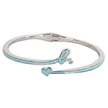 agnes b. 藍b-logo愛心造型手環(銀/女版)