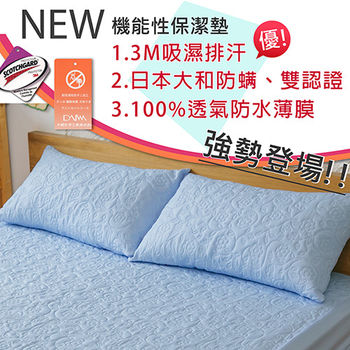 【伊柔寢飾】枕頭保潔墊(藍x1) MIT-全方位3M大和雙認證/獨家專利/100%防水