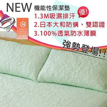 【伊柔寢飾】枕頭保潔墊(綠x1) MIT-全方位3M大和雙認證/獨家專利/100%防水