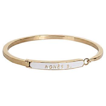 agnes b.  白底金字造型手環(金/女版)