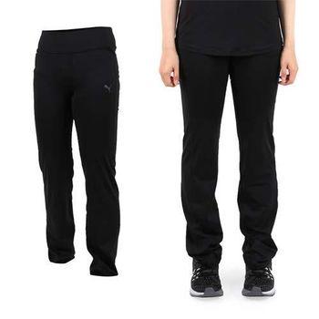 【PUMA】女訓練系列運動長褲-路跑 慢跑 健身 黑銀  LOGO反光設計