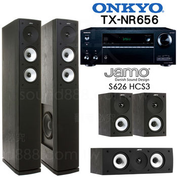 家庭劇院組 ONKYO TX-NR656 7.2聲道 網絡家庭影音擴大機 +JAMO S626 HCS 五聲道喇叭