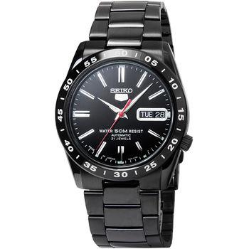 SEIKO 精工5號機械鋼帶腕錶-IP黑  / SNKE03J1 (日本版)