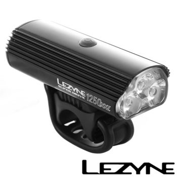 LEZYNE SUPER DRIVE 1250XL USB充電光學透鏡LED高亮度競速夜騎照明警示前燈(黑)