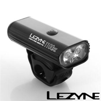 LEZYNE POWER DRIVE 1100XL USB充電光學透鏡LED高亮度競速夜騎照明警示前燈(黑)