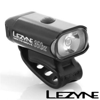 LEZYNE HECTO DRIVE 350XL USB充電光學透鏡LED都會騎乘照明警示前燈(黑)