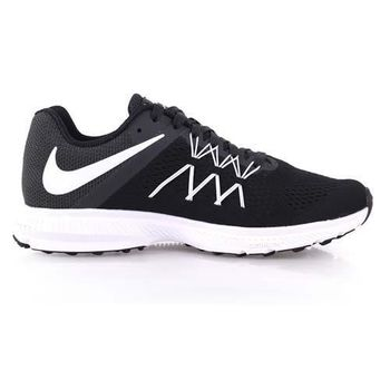 【NIKE】ZOOM WINFLO 3 男慢跑鞋 - 路跑 黑白