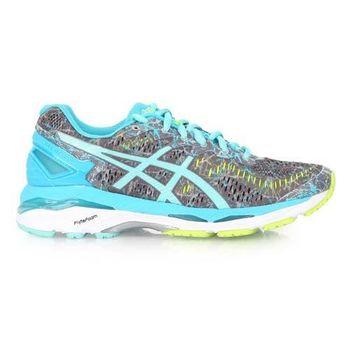 【ASICS】GEL-KAYANO 23 女慢跑鞋 - 路跑 亞瑟士 灰湖水藍