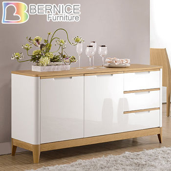 Bernice-愛特5尺雙色收納餐櫃
