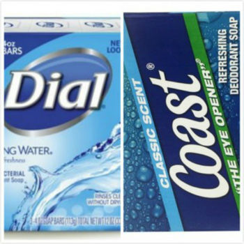 Dial Spring Water礦泉抗菌香皂(113g*3/組)*4 +Coas經典海洋運動香皂t(4oz/113g)*12