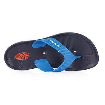 【LOTTO】MIT 男夾腳拖鞋 -台灣製 人字拖 拖鞋 海灘 戲水 游泳 丈青藍