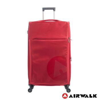 AIRWALK  LUGGAGE - 輕量系列 寄情物語行李箱 28吋拉鍊箱 - 秘密紅